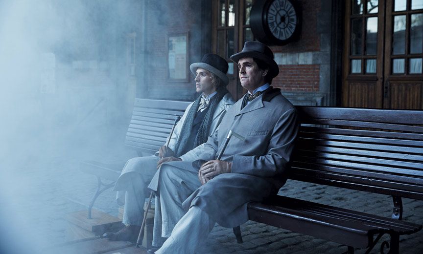 Colin Morgan and Rupert Everett