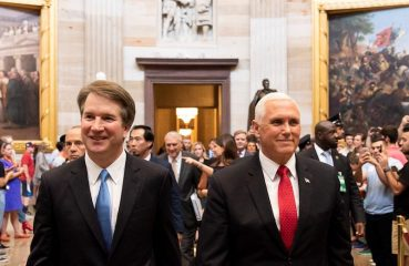 Brett Kavanaugh with Vice President Mike Pence.