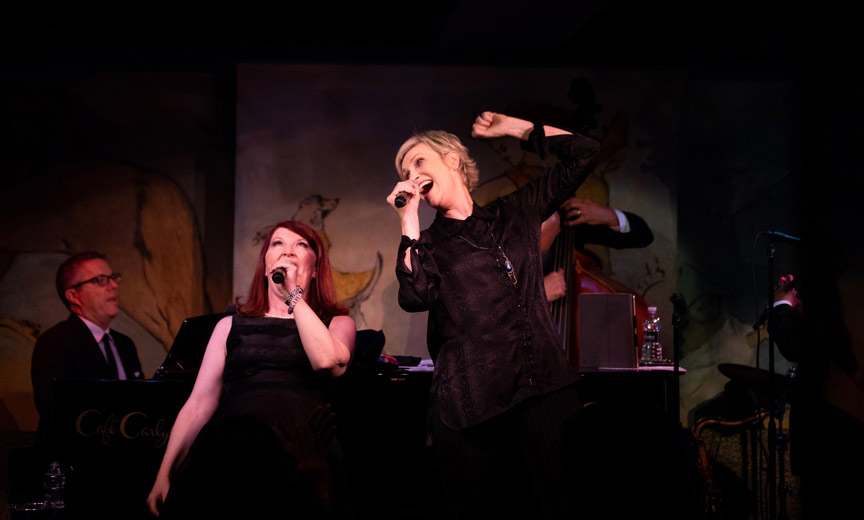 jane and kate at cafe carlyle
