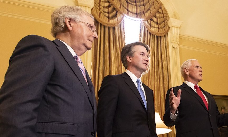 Mitch McConnell, Brett Kavanaugh, Mike Pence