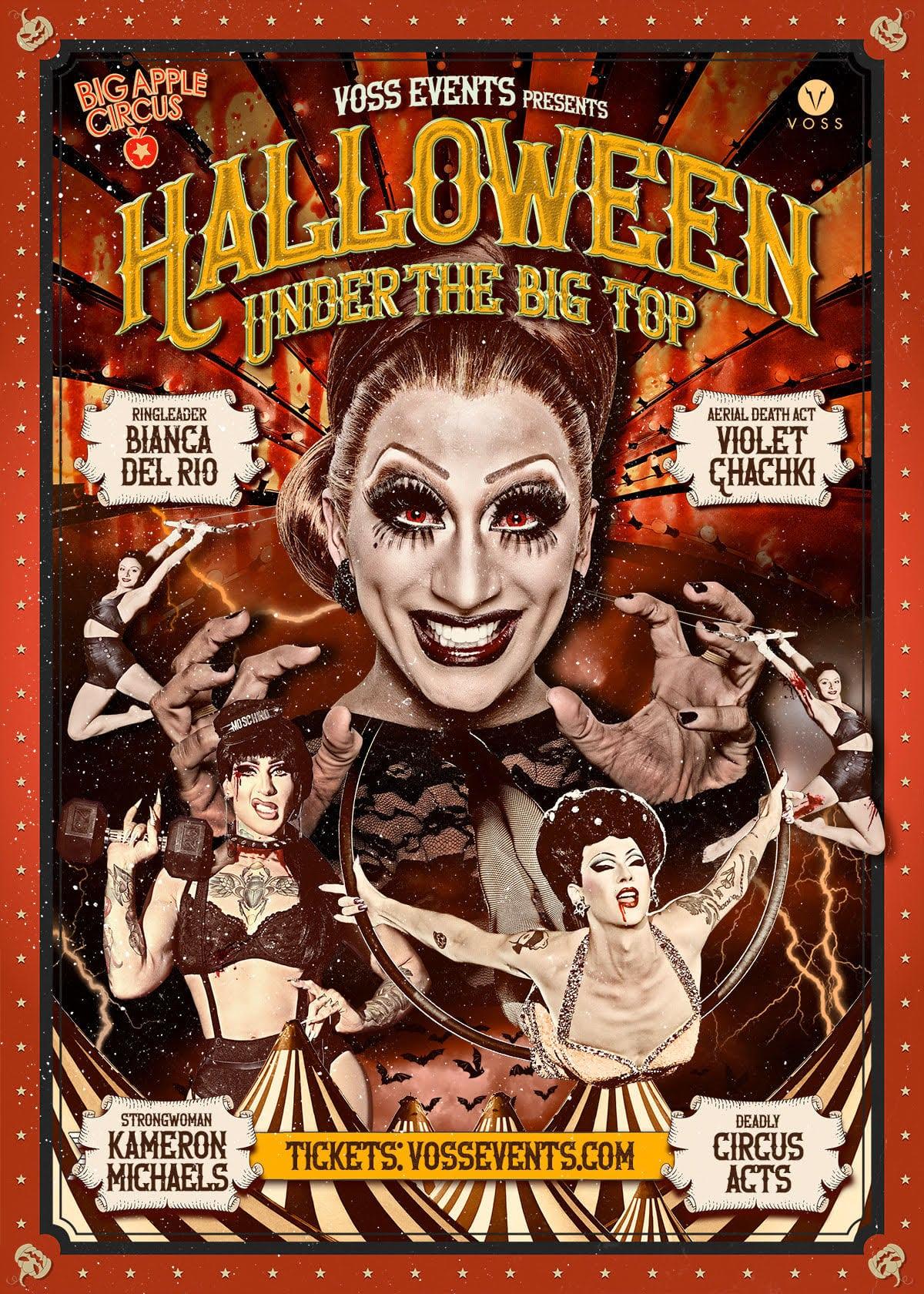 halloween under the big top poster