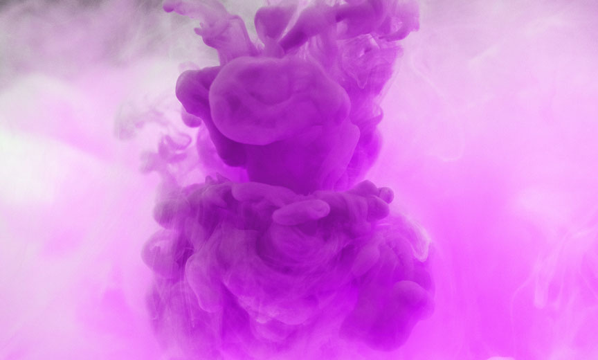 a cloud of purple smoke