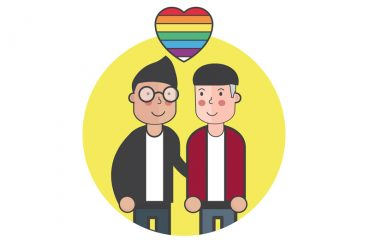 Illustration of a Gay Daddy and an Adult Boy