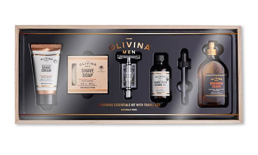 Olivina Men's Premium Shave Grooming Essentials.