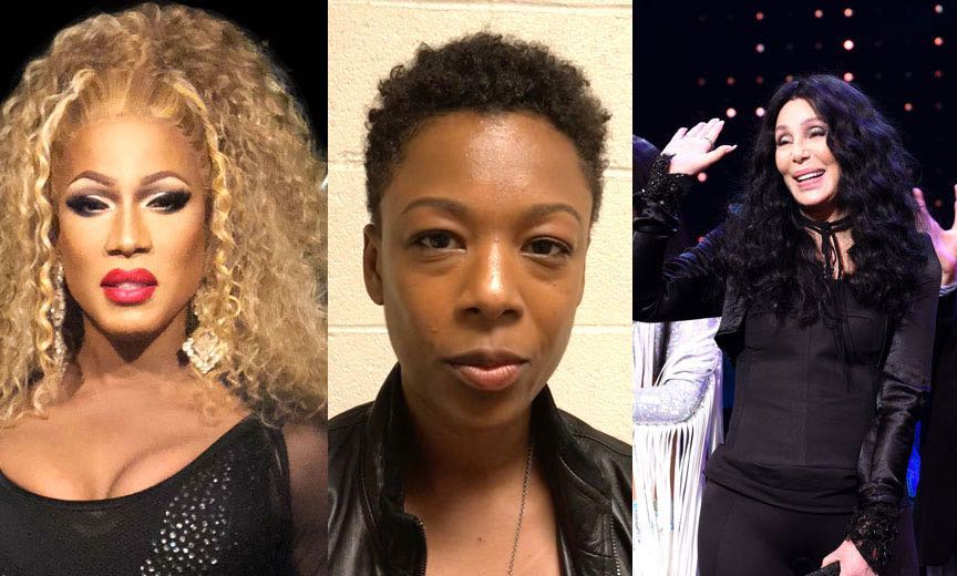 Drag Queen Shequida, Samira Wiley and Cher