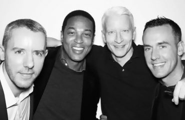 Benjamin Maisani, Don Lemon, Anderson Cooper, and Lemon's partner Tim Malone.