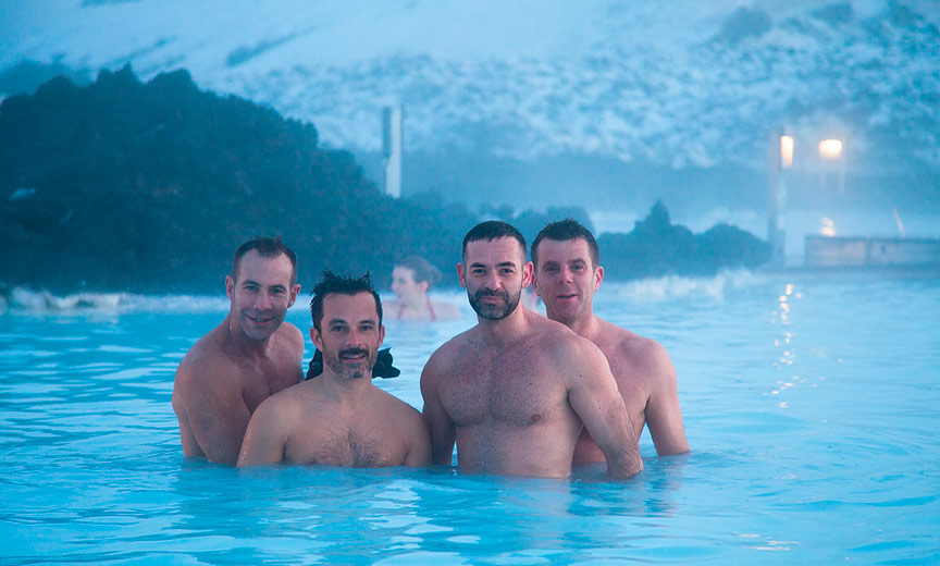 gay men in warm pool in iceland