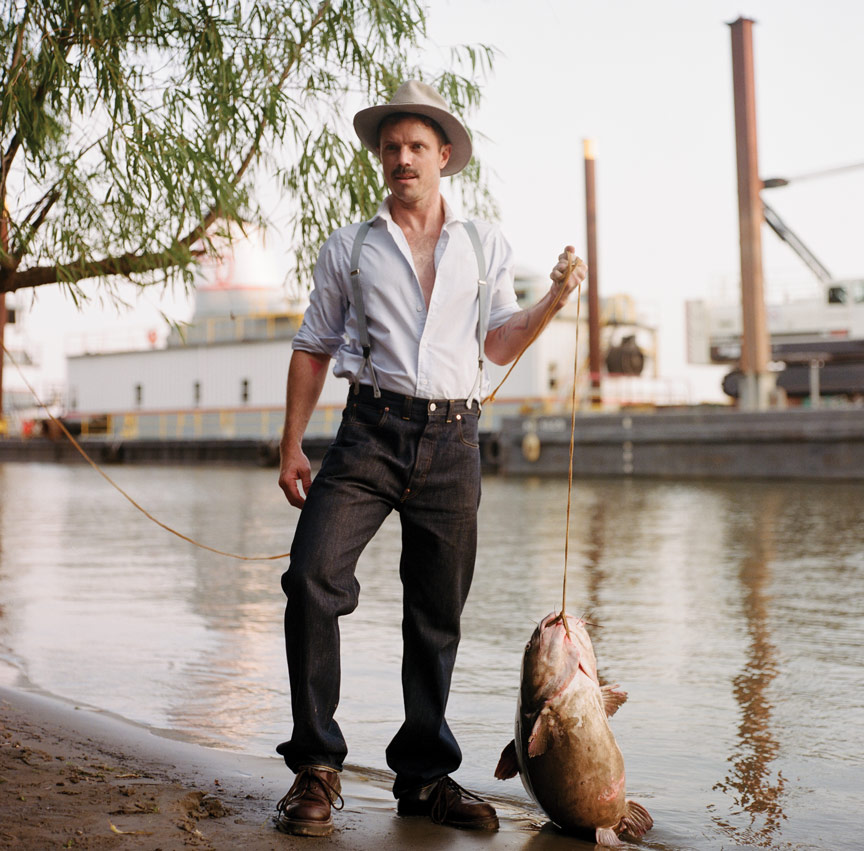 jake shears catches a giant fish