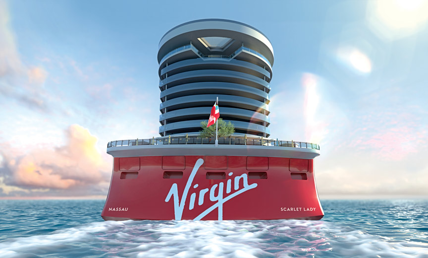 Virgin ship in water