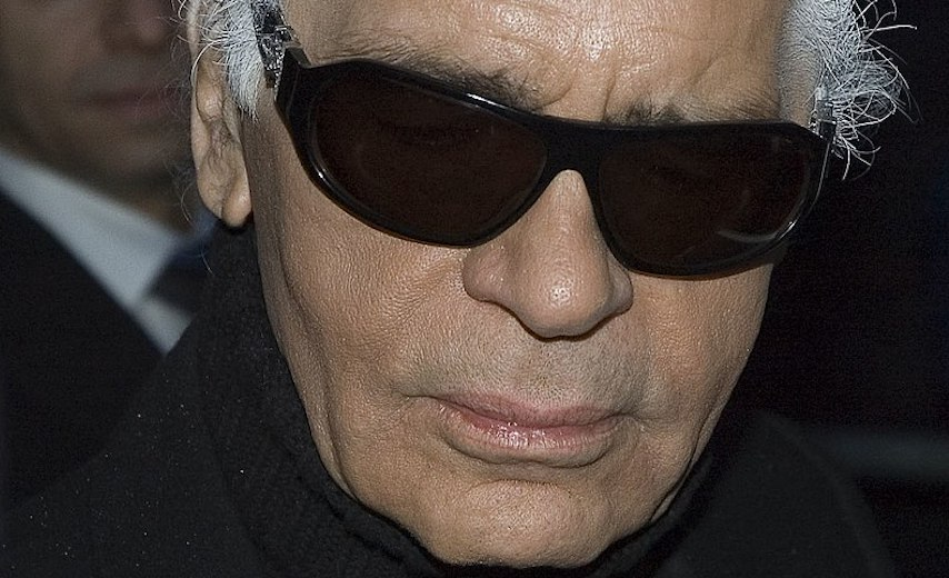Karl Lagerfeld close up