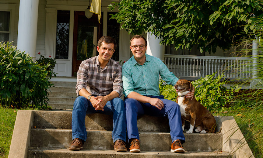 Mayor Pete Buttigieg and husband Chasten Glezman