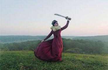 Amanda Palmer wielding sword