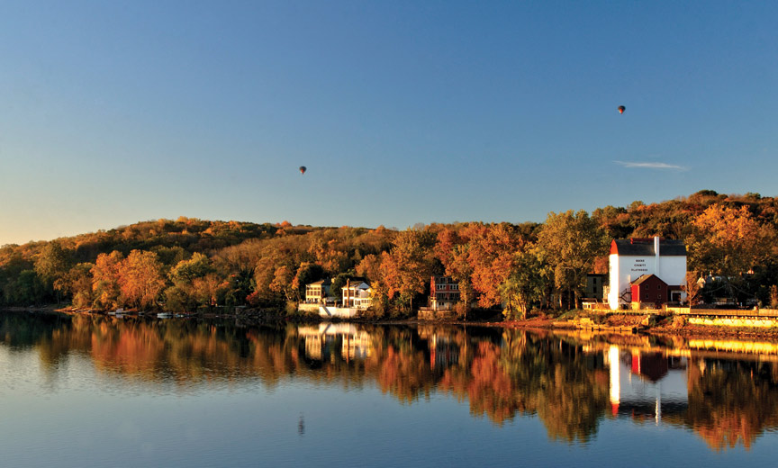 Hot Air Balloons over New hope