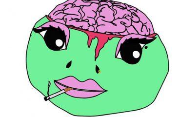lizard brain poster