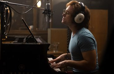 Taron Egerton as Elton John in Rocketman.
