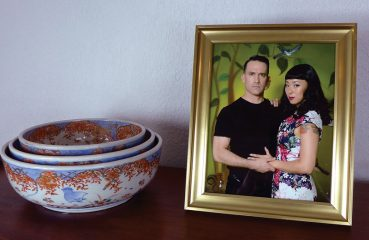 Xiu Xiu in photo with man