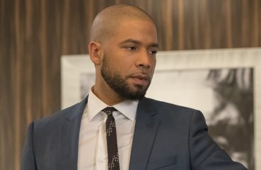 Jussie Smollett in skinny tie with music notes