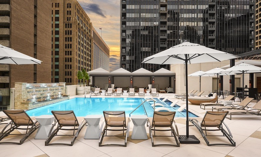 Rooftop Pool/Adolphus Hotel