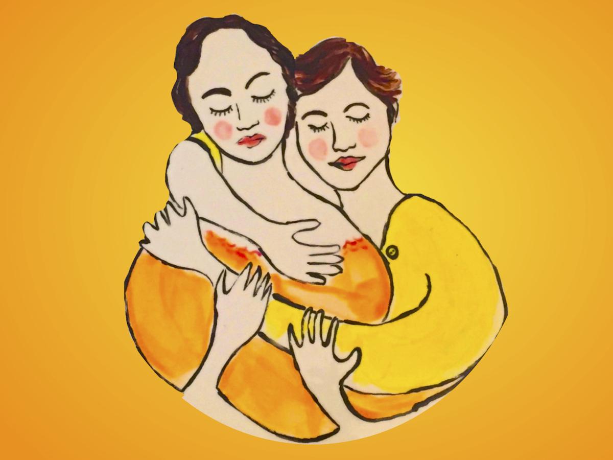 two women in love
