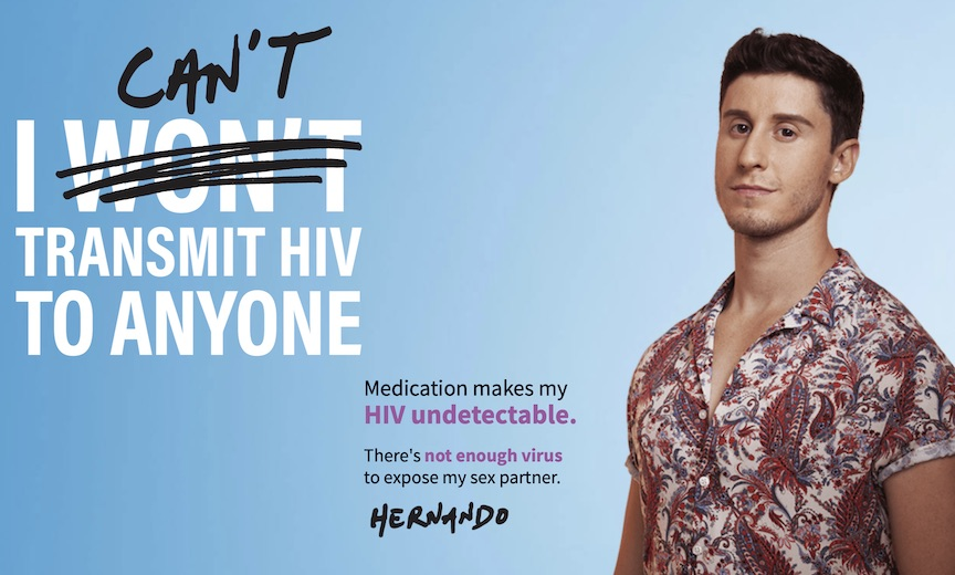 Undetectable=Untransmittable campaign