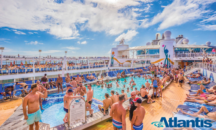 Atlantis Cruises with lots of men