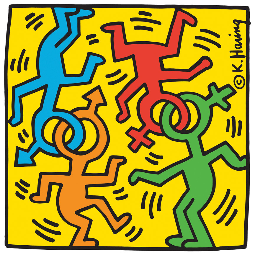 keith haring's heritage of pride logo