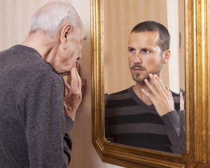 What Happens When You Look in the Mirror and See Someone Half Your Age?