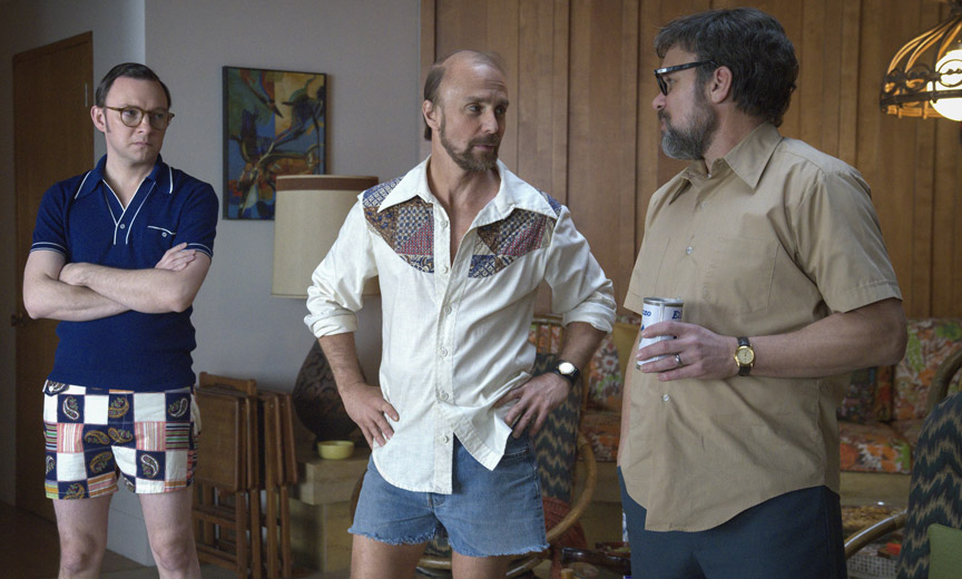 Nate Corddry as Neil Simon, Sam Rockwell as Bob Fosse and Norbert Leo Butz as Paddy Chayefsky