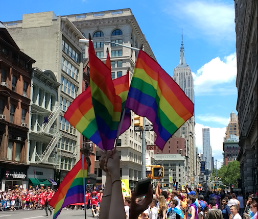 pride flags in nyc