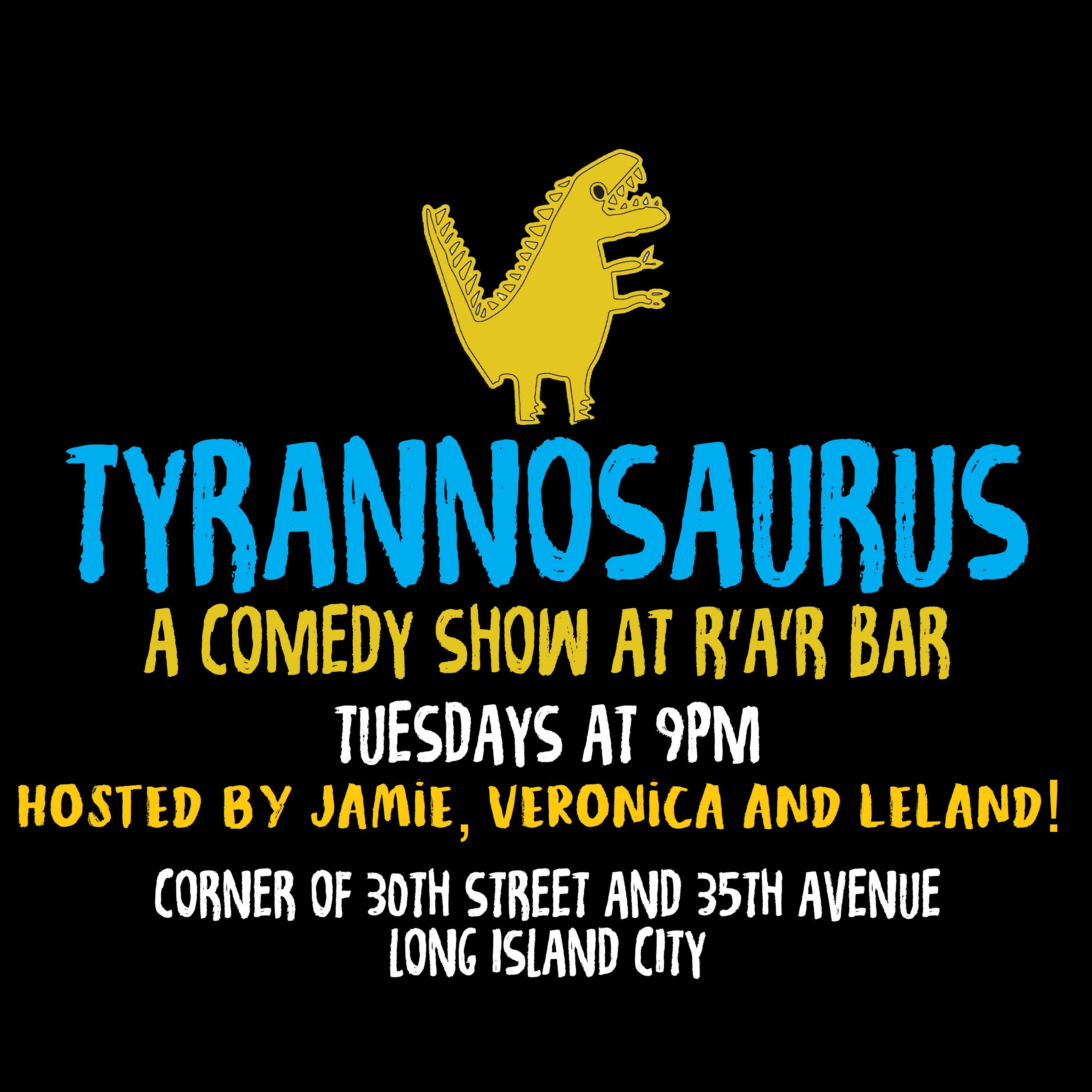 tyrannosaurus comedy poster