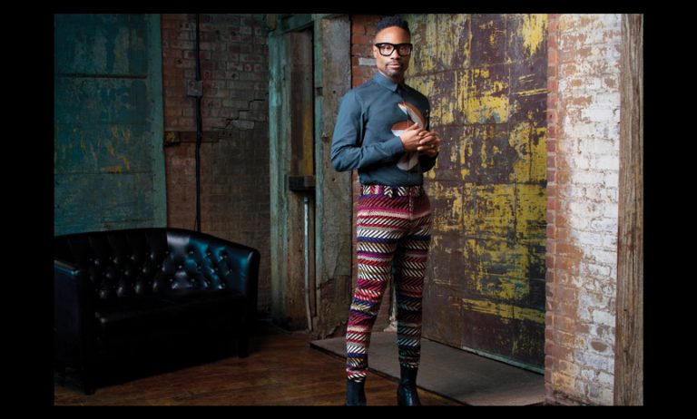Billy Porter in colorful pants
