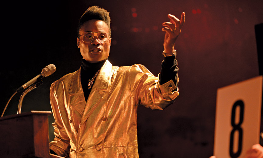 billy porter in gold jacket
