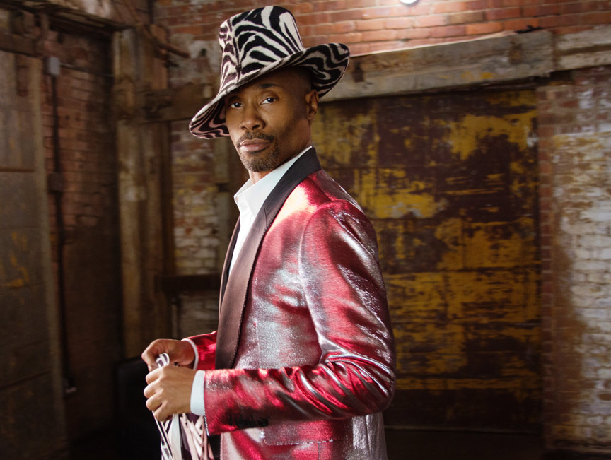 billy porter with zebra hat