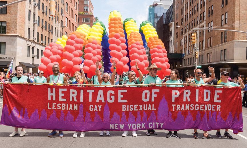heritage of pride at nyc pride march