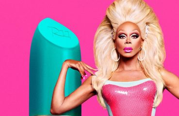RuPaul Posed with a Giant Lipstick