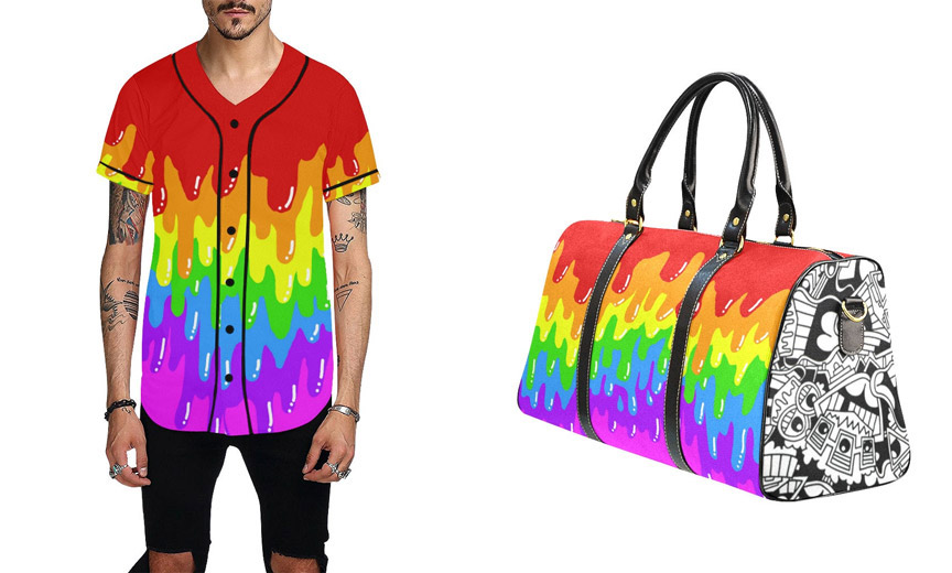 Shirt and Bag from the Dripping with Pride collection
