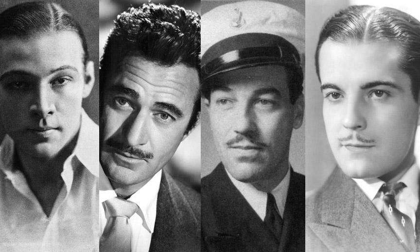 Rudolph Valentino, Gilbert Roland, Cesar Romero, Ramon Novarro