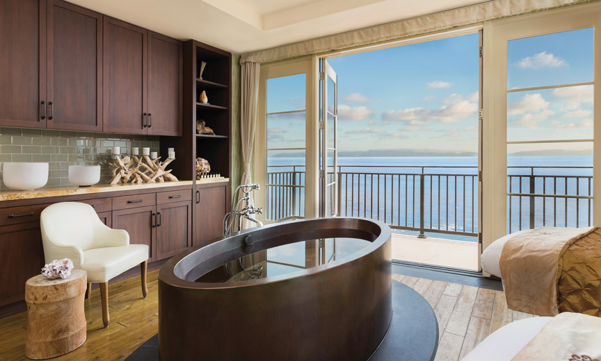 All images courtesy of Terranea resorts] [Captions: 1- Terranea Resort - The Spa at Terranea Copper Tub