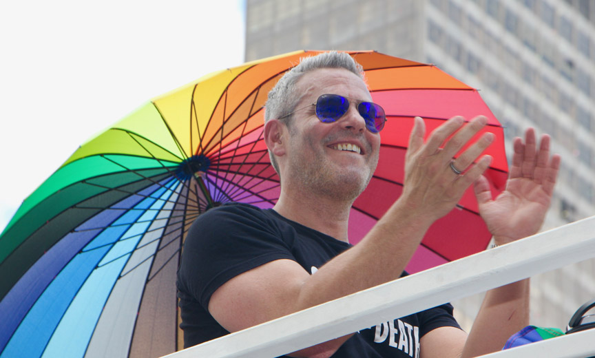 Andy Cohen at Pride