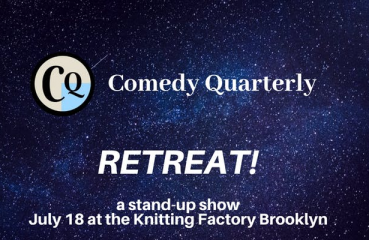 comedy quarterly retreat poster