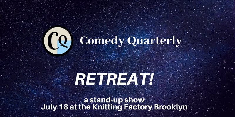 comedy quarterly retreat poster