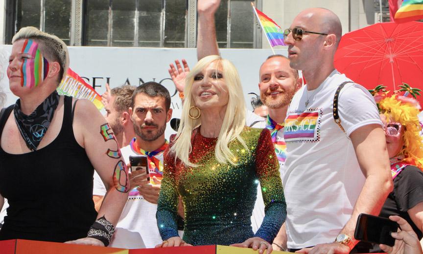 Donatella Versace on Pride
