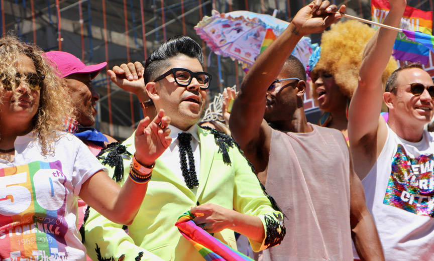 Mondo Guerra on Pride Float