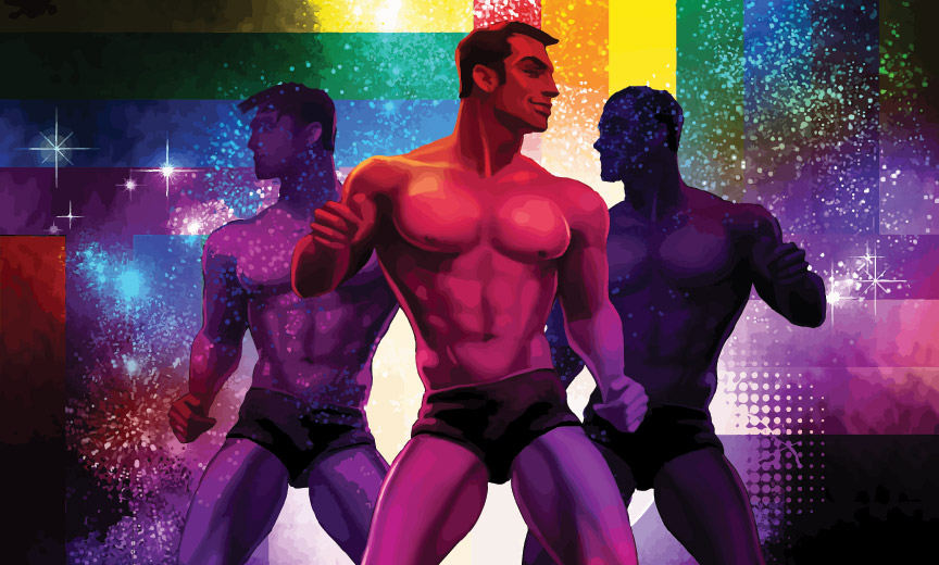 Dancing Men at a Gay Club