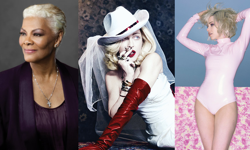 Madonna, Dionne Warwick and Carly Rae Jepsen