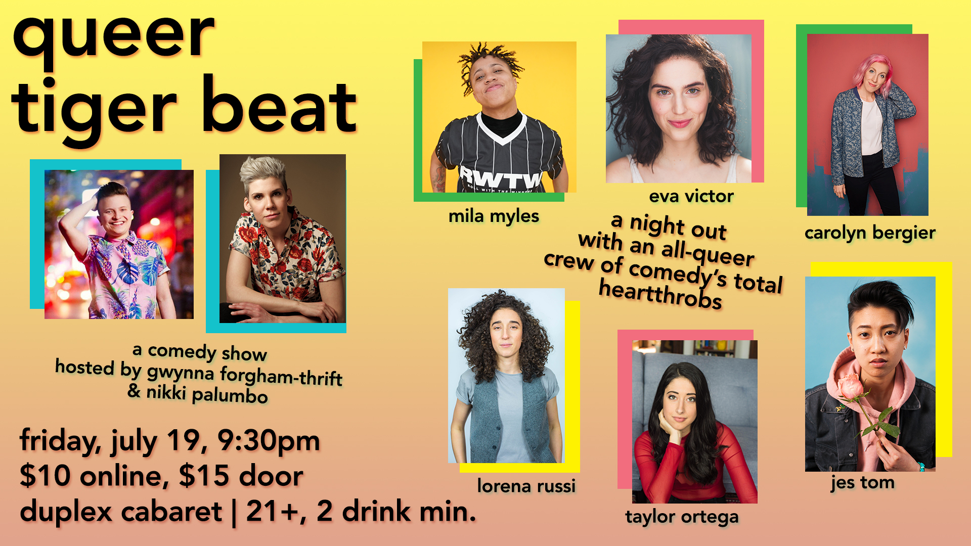 queer tiger beat poster