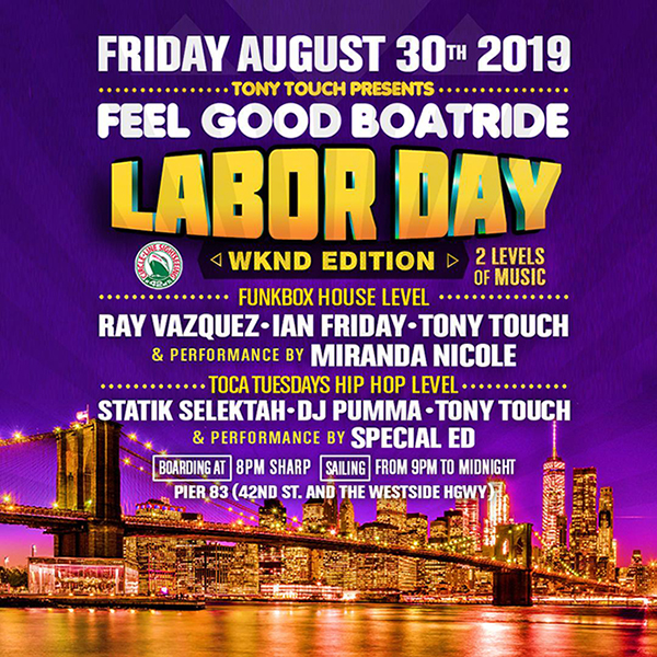 labor day boat ride poster