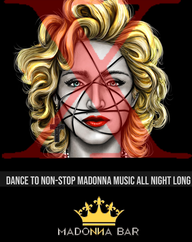 madonna bar flyer