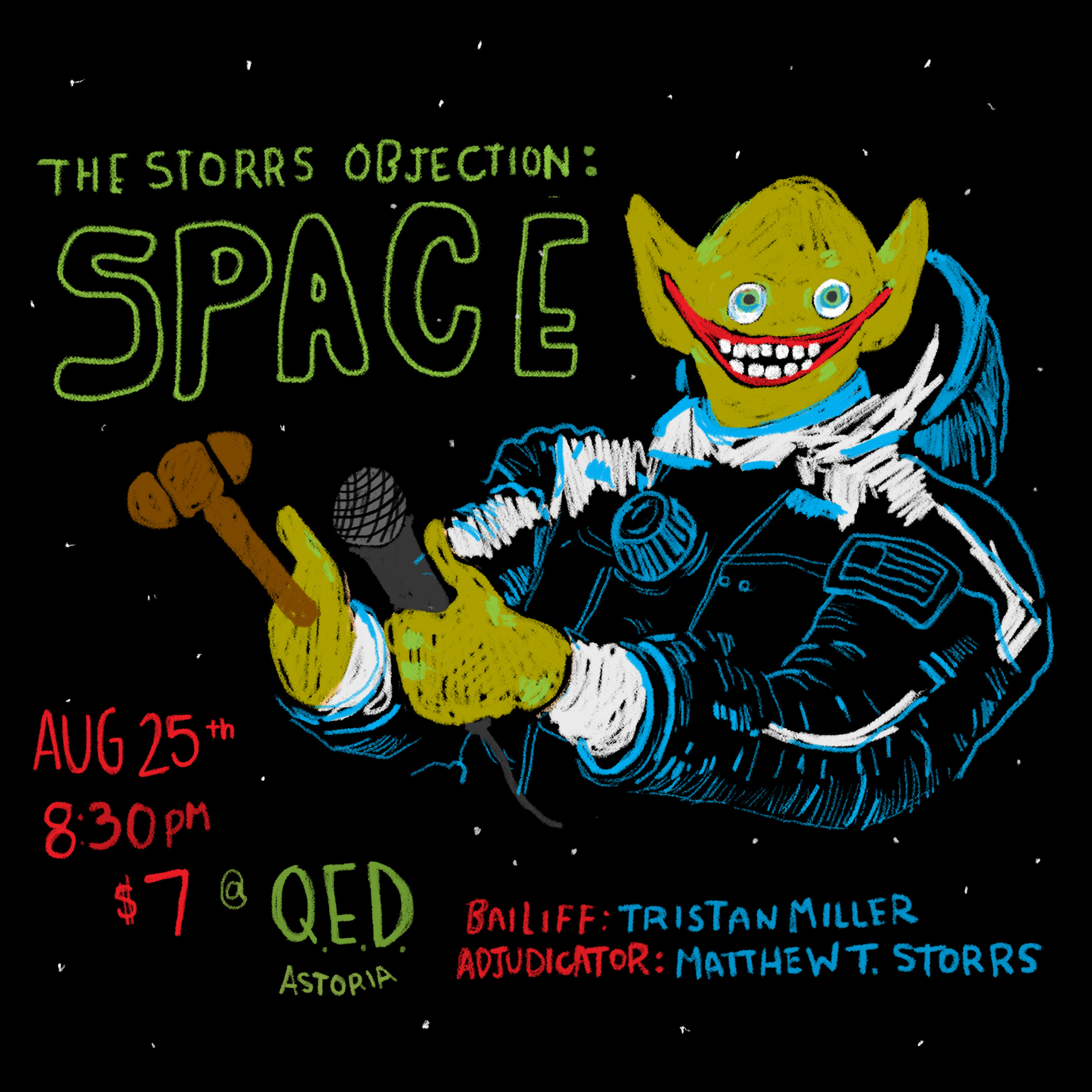 the storrs objection space poster