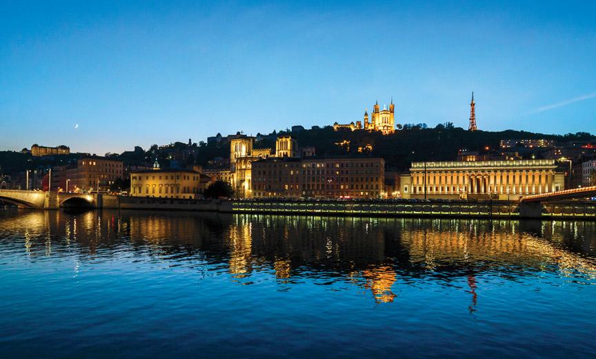Vieux Lyon de nuit